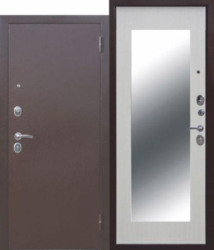 Входная-дверь-Царское-зеркало-МАКСИ-Белый-ясень