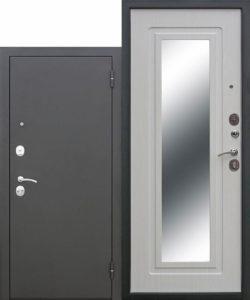 Входная-дверь-Царское-зеркало-Муар-Белый-ясень