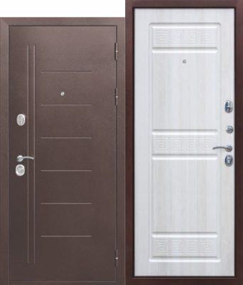 Входная-дверь-10-см-Троя-Антик-Белый-Ясень