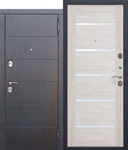 Входная-металлическая-дверь-105-см-Чикаго-Царга-Лиственница-беж-с-МДФ-панелями