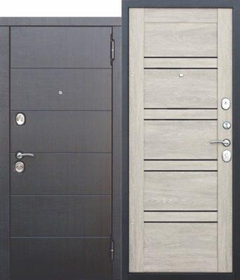 Входная-металлическая-дверь-105-см-Чикаго-Царга-дуб-шале-белый-с-МДФ-панелями