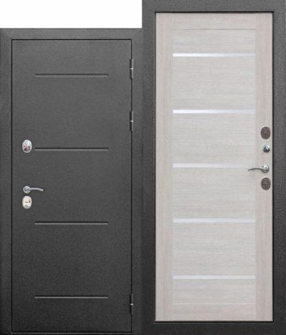 Входная-морозостойкая-дверь-c-ТЕРМОРАЗРЫВОМ-11-см-Isoterma-СЕРЕБРО-Лиственница-беж