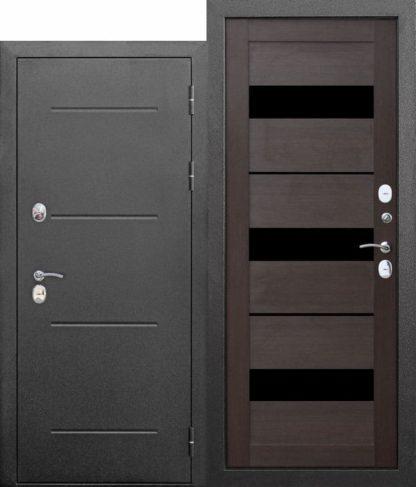 Входная-морозостойкая-дверь-c-ТЕРМОРАЗРЫВОМ-11-см-Isoterma-СЕРЕБРО-Темный-кипарис