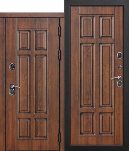 Входная-морозостойкая-дверь-c-ТЕРМОРАЗРЫВОМ-13-см-Isoterma-МДФ-Грецкий-орех