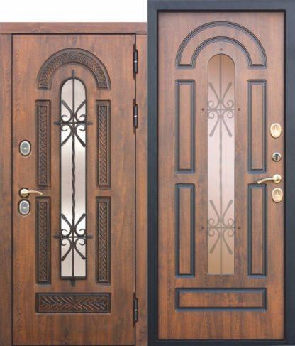 Входная-морозостойкая-дверь-c-ТЕРМОРАЗРЫВОМ-13-см-VITRA-Винорит-Патина-Израиль
