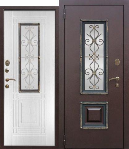 -металлическая-дверь-со-стеклопакетом-Венеция-Белый-ясень-e1624213068311