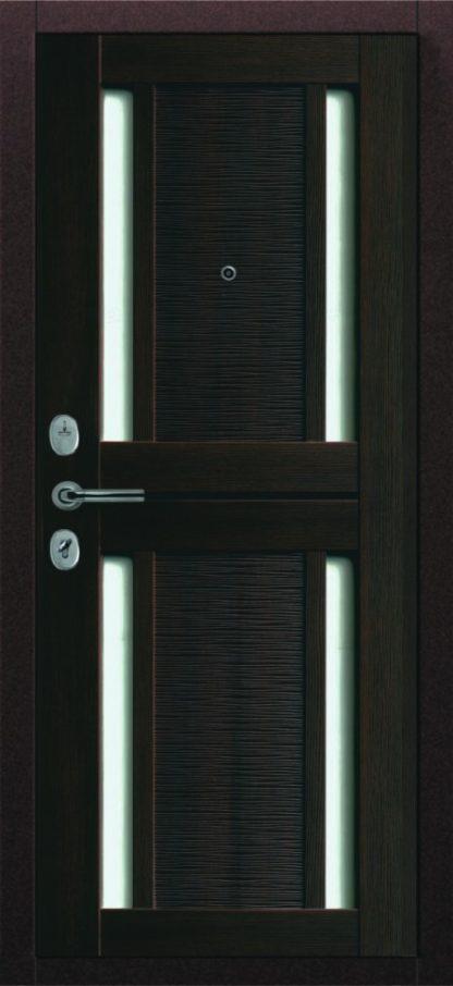 черная железная входная дверь которую можно купить в Саранске в магазине Мастерок