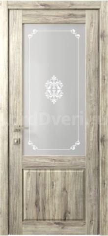 Межкомнатная дверь Кантри 2 стекло Грация