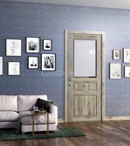 Межкомнатная дверь Кантри 4 стекло Фацет