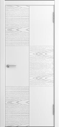 Межкомнатная дверь Квадро с фрезой