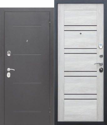 Входная-дверь-ГАРДА-Серебро-ЦаргаЛестница-Шале-белый