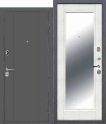 Входная-дверь-ПОРТУ-Эмаль-Зеркало