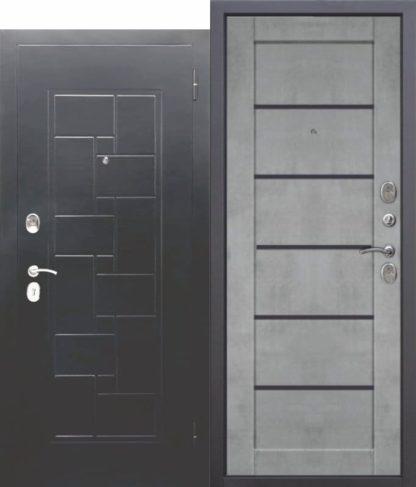 металлическая дверь ГАРДА Серебро Царга Бетон серый