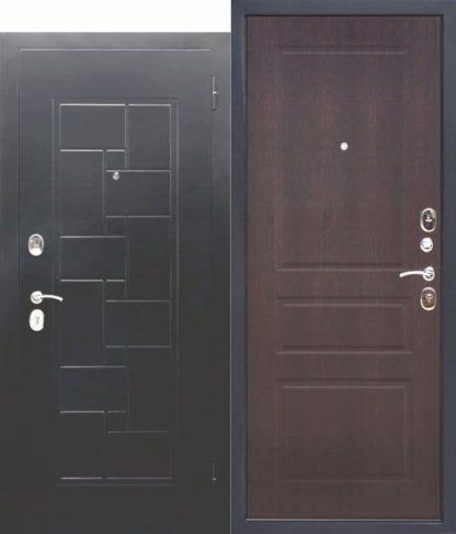 Входная-металлическая-дверь-ГАРДА-Серебро-штамп-Домино-Венге