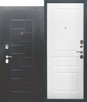 Входная-металлическая-дверь-ГАРДА-Серебро-штамп-Домино-Ясень-белый-эмаль