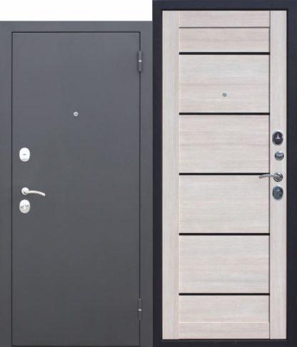 Входная-металлическая-дверь-Гарда-МУАР-ЦАРГА-Лиственница-мокко