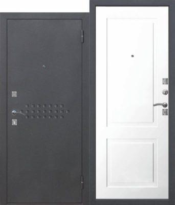 Входная-металлическая-дверь-DOMINANTA-Муар-Велюр-белый-снег