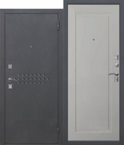 Входная-металлическая-дверь-DOMINANTA-Муар-лайт-грей