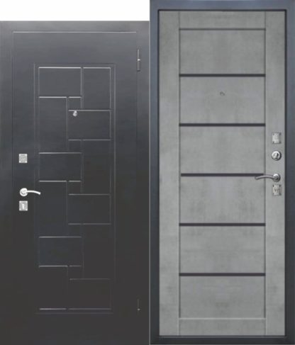 Входная-металлическая-дверь-DOMINANTA-Серебро-Царга-Бетон-серый