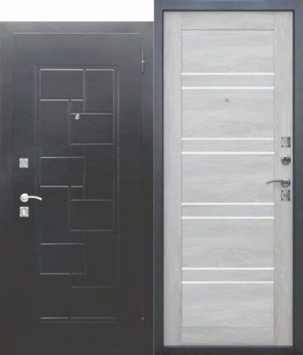 Входная-металлическая-дверь-DOMINANTA-Серебро-Царга-Дуб-шале-белый