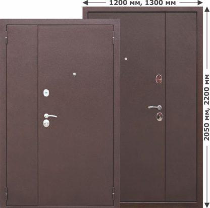 Двустворчатая-входная-дверь-GARDA-Металл