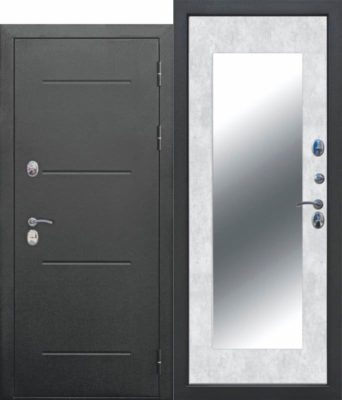 11-см-ISOTERMA-Букле-чёрный-Зеркало-MAXI-Бетон-снежный