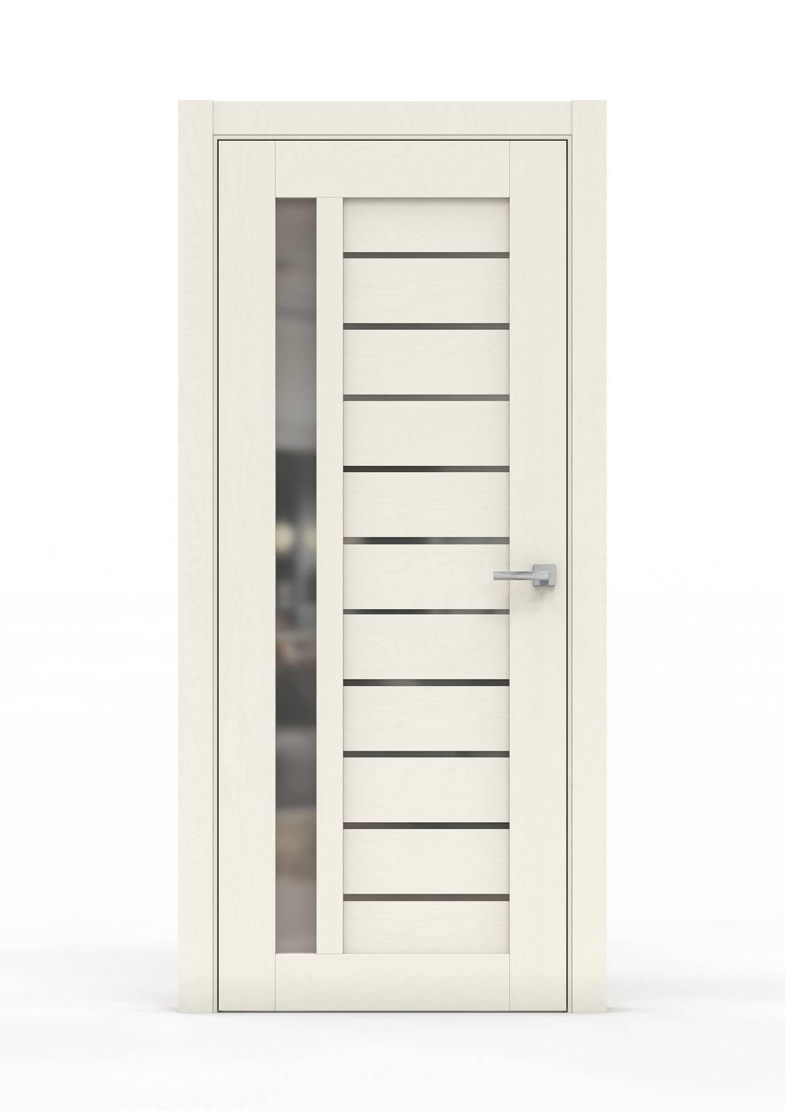 Межкомнатная дверь - 0691Б. Цвет - Ясень Ваниль